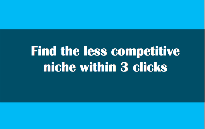 Tool to find less competitive niche